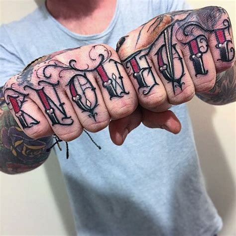 tattoo lettering on hands top 100 best knuckle tattoos for men a fist full of ideas