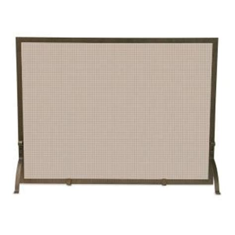 fireplace screen home depot uniflame bronze single panel fireplace screen s 1642 the