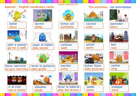 decorar dicionario ingles vocabulario actividades activities vocabulario