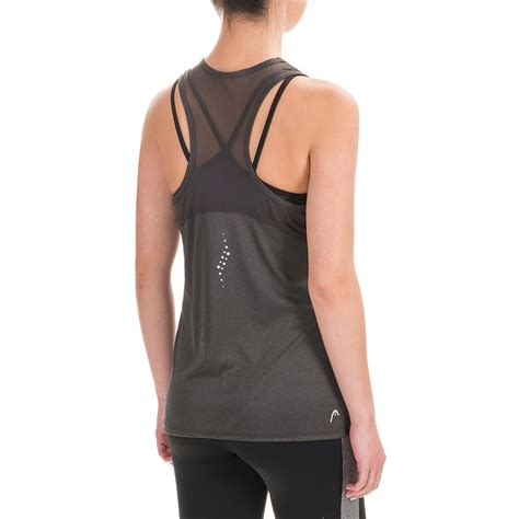 photos of the tops of womens heads head mesh back tank top for women save 76