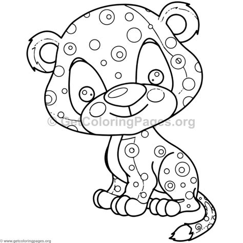 coloring pages baby jaguar cute baby jaguar animal coloring pages getcoloringpages org