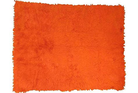 bright orange area rug bright orange vintage tulu shag rug one of a vintage rugs p