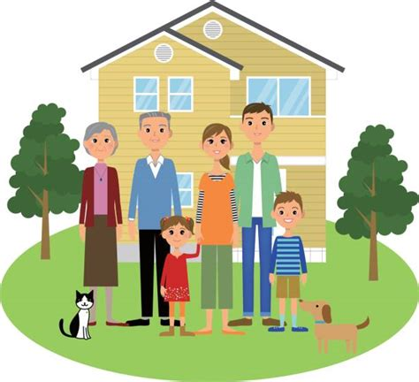 family and home house family asian clip art vector images illustrations
