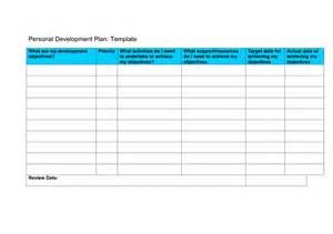 personal development plan pdp template in word and pdf