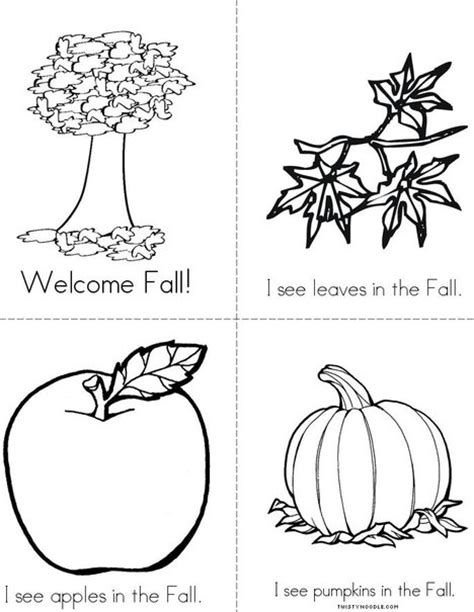 printable book about leaves welcome fall mini book from twistynoodle com autumn
