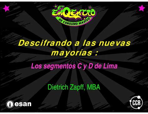 Mba Centrum O Esan by Mass Pe Segmentos C Y D En Lima Esan