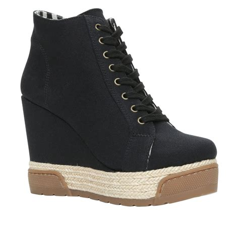 Sale Aldo Black Wedges Ori aldo nydadorien wedge lace up espadrille shoes in black lyst