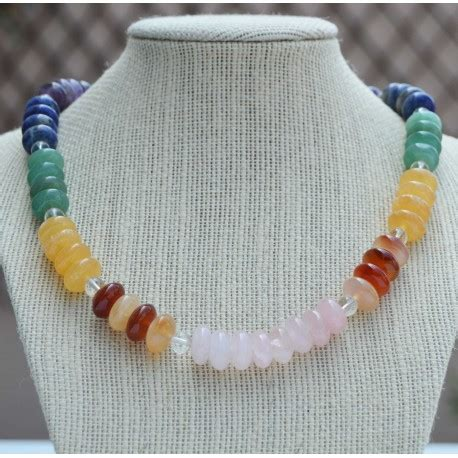 collier 7 chakras rogermineral