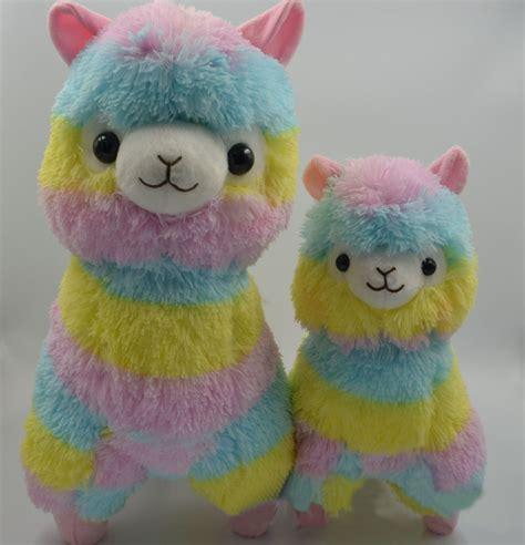 rainbow alpaca plush toy japanese soft plush alpacasso