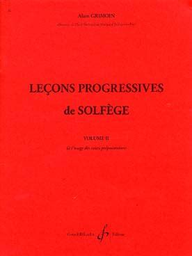 0043029817 lecons progressives de lecture de partition 32 lecons progressives de solfege volume 2