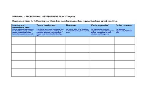 professional development plan template best business