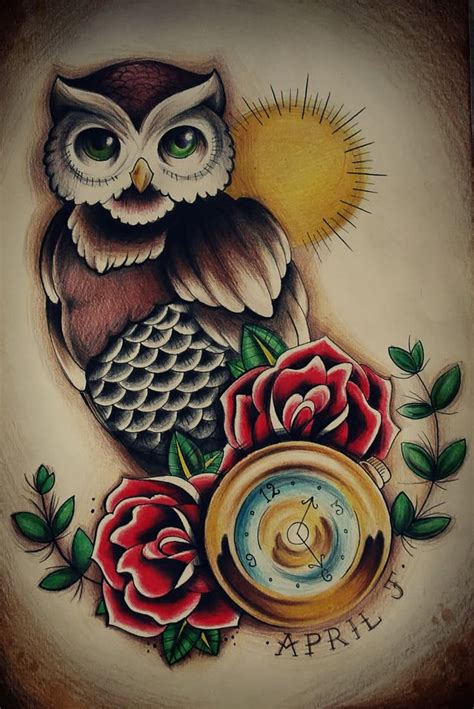 traditional owl tattoo best 25 traditional owl tattoos ideas on
