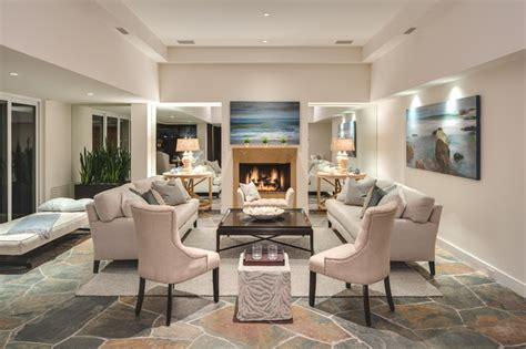 laguna home staging transitional living room