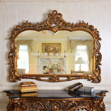 pu247 antique gold decorative framed wall mirror gold leaf