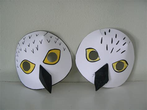 printable owl mask snowy owl mask and lemming game plains song studio