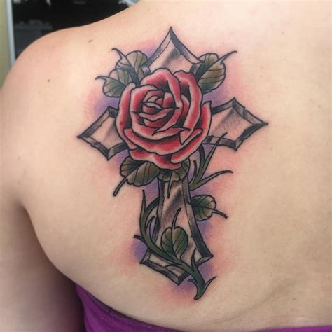 tattoo cross with roses designs 45 cross designs ideas design trends premium