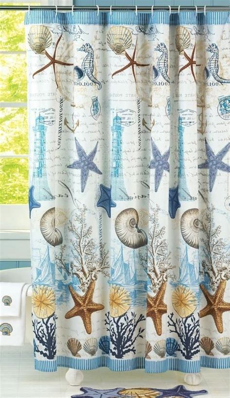 nautical themed shower curtain 17 best ideas about beach shower curtains on pinterest sea