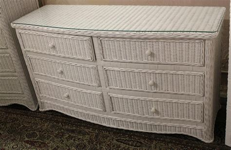 white rattan chest of drawers florentine 6 drawer wicker dresser all about wicker
