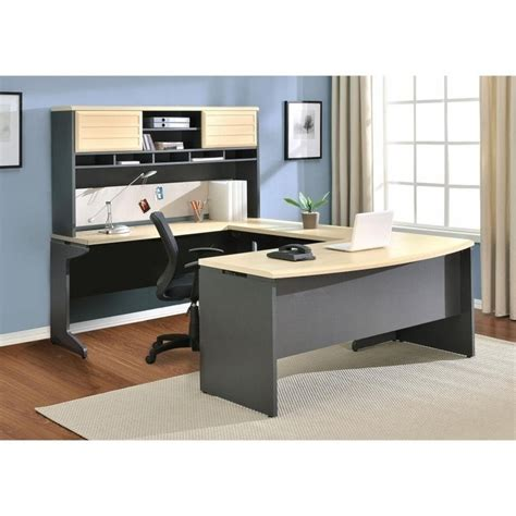 Gray Computer Desk by Benjamin U Shape Computer Desk In And Gray 9347196