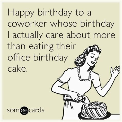 Birthday Ecard Meme - 25 best ideas about birthday wishes for coworker on