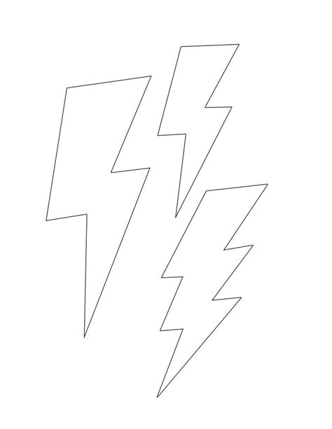 small lightning bolt tattoo lightning bolt template small diy printables
