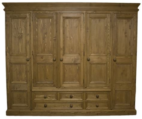 solid wood interiors gt solid pine wardrobe 5 doors and 5