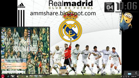download theme windows 7 real madrid 2014 theme real madrid for windows 7 amm share