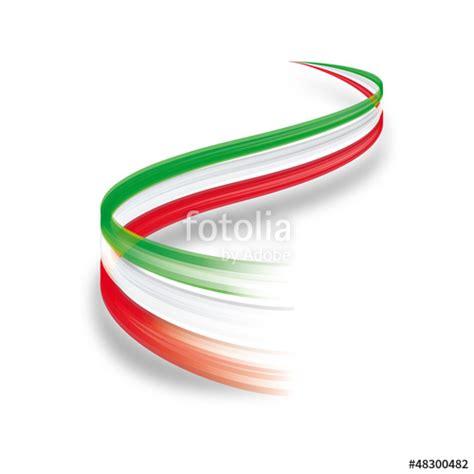 cornice tricolore quot onda astratta tricolore italiano quot immagini e vettoriali