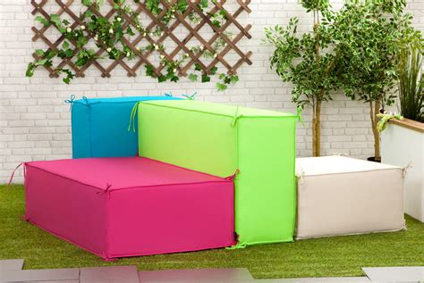 stone square waterproof garden soft foam sofa seating