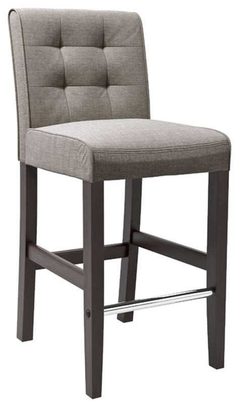 grey fabric bar chairs corliving antonio barstool in grey tweed fabric