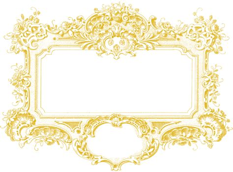 gold pattern frame baroque frame image graphicsfairy gold the graphics fairy