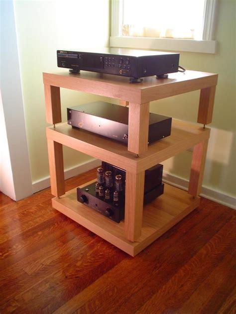diy ikea lack table audio rack