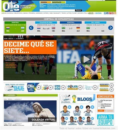 la portada diario argentino ole tras la derrota de