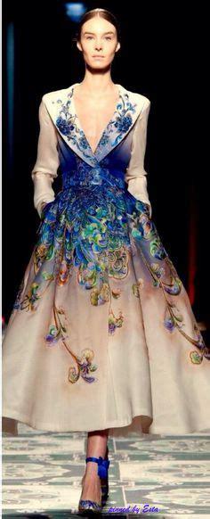 Hanbok Skirt Midi Floral oliver ward at the central martins fashion show