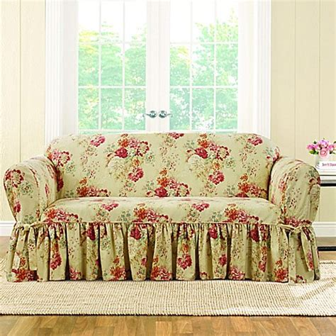 sure fit waverly ballad bouquet sofa slipcover sure fit 174 ballad bouquet by waverly loveseat slipcover