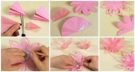 How To Make A Paper Lotus - diy how to make a paper lotus candle holder craft community