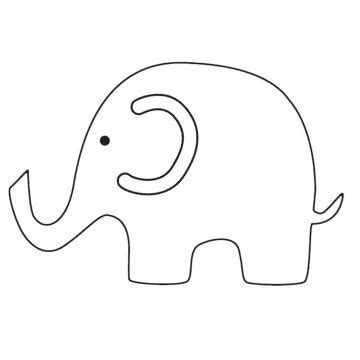 elephant template printable simple elephant outline cliparts co