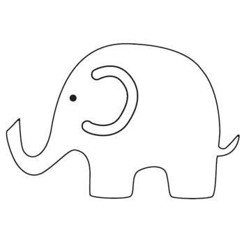 elephant template printable simple elephant outline cliparts co