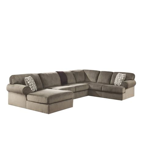 ashley dune sectional ashley jessa place 3 piece polyester sectional in dune