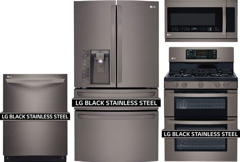 lg kitchen appliances packages lg 4 piece kitchen package with ldg3036bd gas range