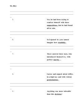 Tell Tale Worksheet by The Tell Tale Vocabulary Worksheet By Tpt
