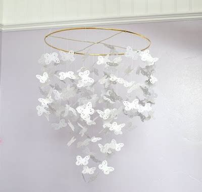 Handmade Paper Chandelier - shabby vintage paper crafts decor