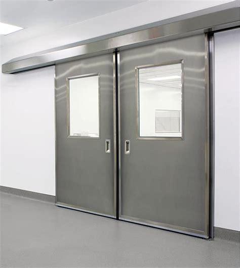 Asi Doors by 1270ss Bi Parting Stainless Steel Manual Cleanseal Pharma Door