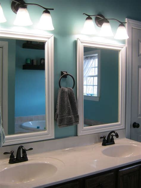 this thrifty house framed bathroom mirror framed bathroom mirrors would like to do this in my