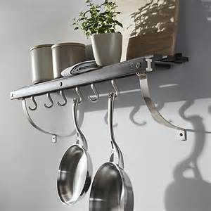 Wall Hung Pot Rack J K Grey Wall Mounted Pot Rack Crate And Barrel