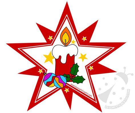 candela natale decorazioni di natale stella con candela