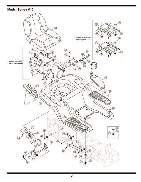 mtd mower parts mtd 610 hydrostatic lawn tractor mower parts list