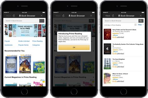 amazon kindle app amazon prime reading now available on iphone and ipad