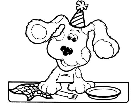 coloring page of blue free printable blues clues coloring pages for