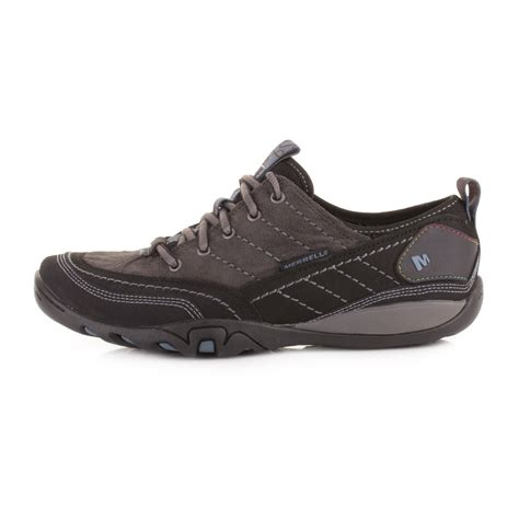 womens merrell mimosa lace black lace up walking leather
